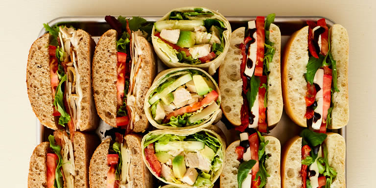 Photograph of sandwiches