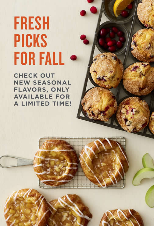 Fresh Picks for Fall with new seasonal flavors, only available for a limited time.